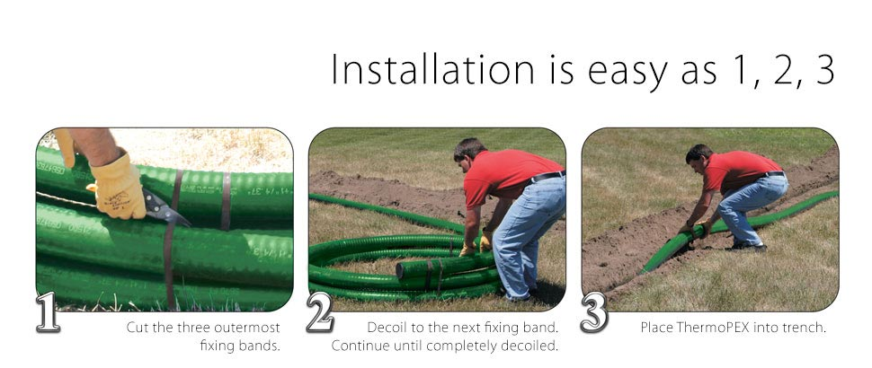 Installing ThermoPEX piping is easy