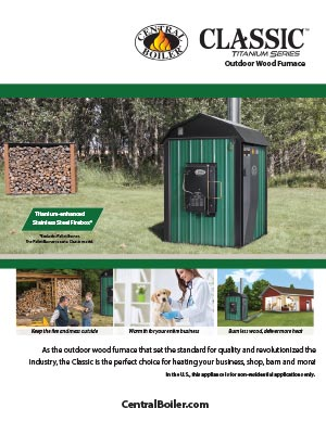 Classic outdoor wood furnace brochure