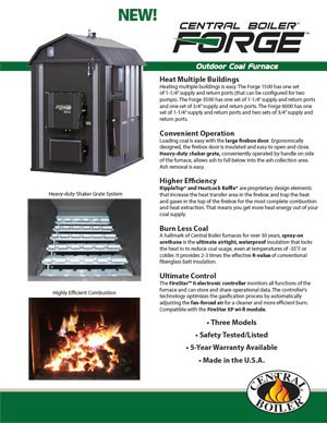 Forge outdoor coal furnace by Central Boiler flyer