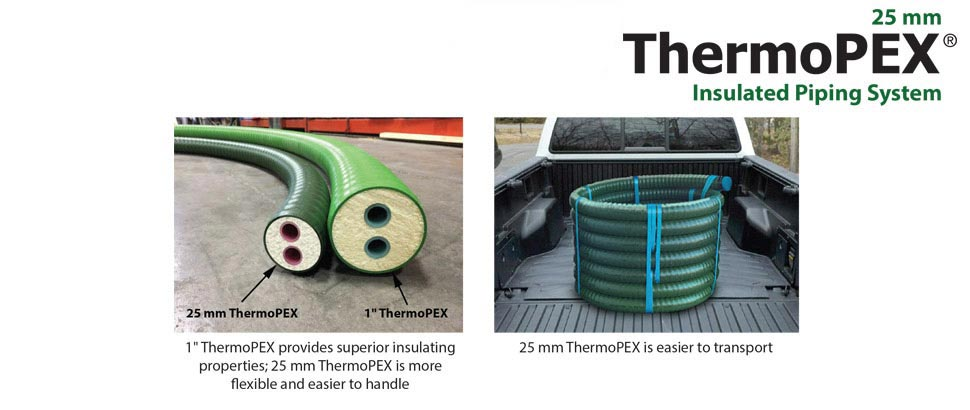 ThermoPEX 25mm is easier to transport