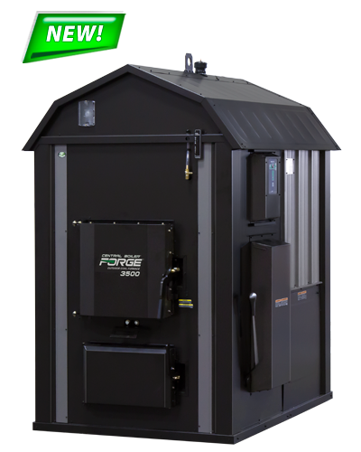 The Forge 3500 outdoor coal furnace by Central Boiler