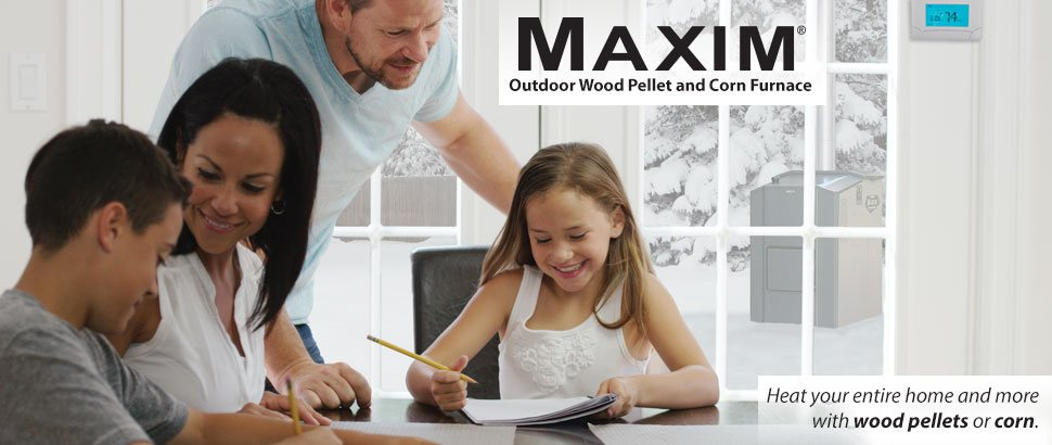 Maxim Outdoor Wood Pellet and Corn Furnace can save you money